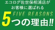 5つの理由!!